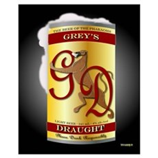 Greyhound Beer A (small) Poster