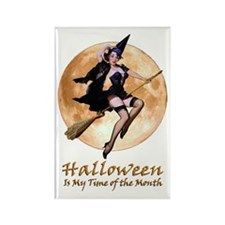Halloween is My Time of the Month Rectangle Magnet