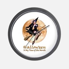 Halloween is My Time of the Month Wall Clock