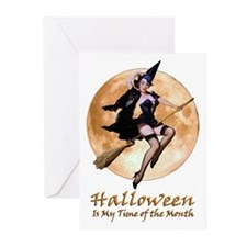Halloween is My Time of the Month Greeting Cards (