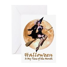 Halloween is My Time of the Month Greeting Card
