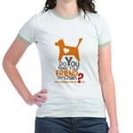 Keep Your Friend on a Chain? Jr. Ringer T-Shirt