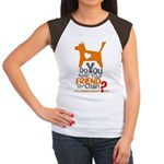 Keep Your Friend on a Chain? Women's Cap Sleeve T-