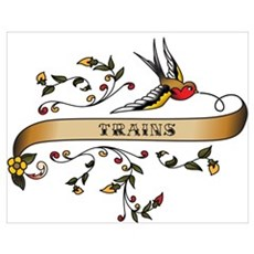 Trains Scroll Poster