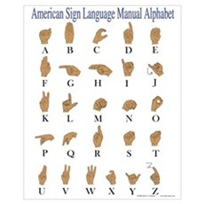 American Sign Language ASL Alphabet Framed Print