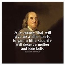 Ben Franklin Quotes Poster
