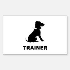 Dog Trainer Sticker (Rectangular)