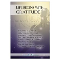 Life Begins with Gratitude Framed Print