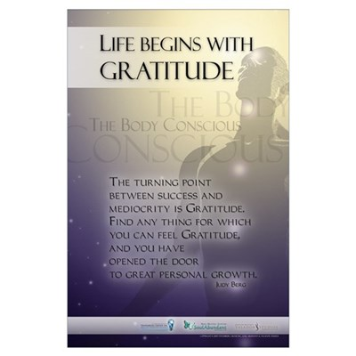 Life Begins with Gratitude Poster