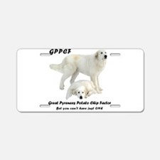 Great Pyrenees Potato Chip Aluminum License Plate