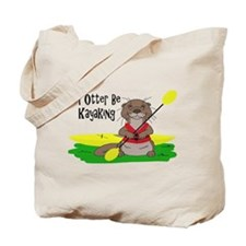 I Otter Be Kayaking Tote Bag