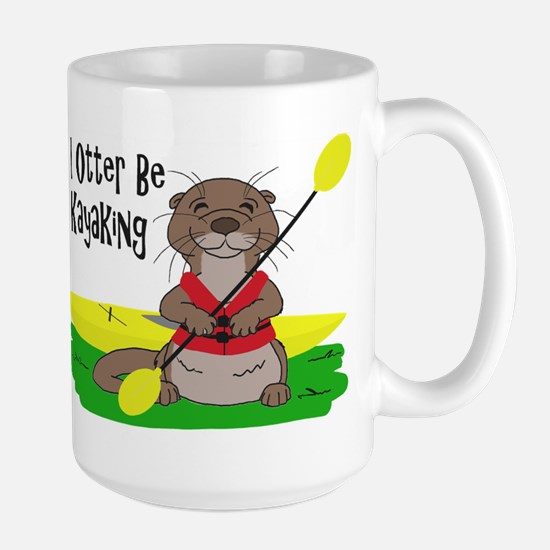 I Otter Be Kayaking Large Mug