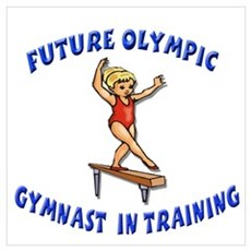 Future Olympic Gymnast In Tra Poster