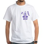 Violet WIN Ribbon White T-Shirt