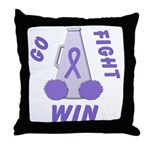 Violet WIN Ribbon Throw Pillow