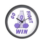 Violet WIN Ribbon Wall Clock