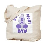 Violet WIN Ribbon Tote Bag