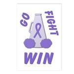 Violet WIN Ribbon Postcards (Package of 8)