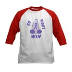 Violet WIN Ribbon Kids Baseball Jersey