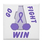 Violet WIN Ribbon Tile Coaster