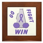 Violet WIN Ribbon Framed Tile