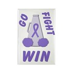 Violet WIN Ribbon Rectangle Magnet (100 pack)
