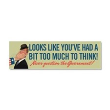 Too Much To Think Car Magnet 10 x 3