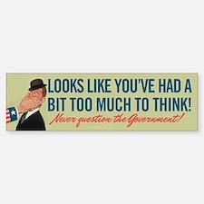Too Much To Think Sticker (Bumper)