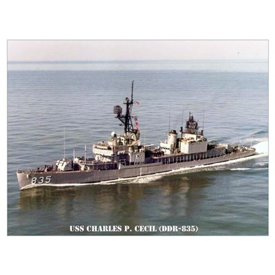 USS CHARLES P. CECIL Poster