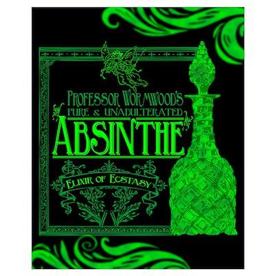 Prof. Wormwood Absinthe Poster