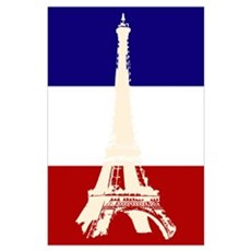 Eiffel Tower French Flag Poster