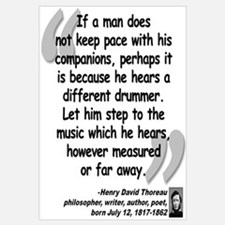 Thoreau Drummer Quote