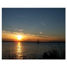 Sunset Over Lummi Island Framed Print