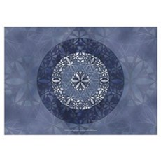 Flower of Life in Blue Poster