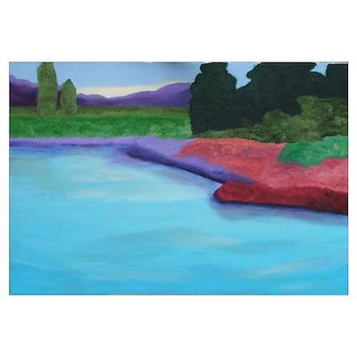 Monet's Fields Poster