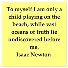Sir Isaac Newton quotes Framed Print