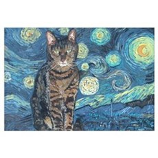 """Starry Night Life"" Framed Print"
