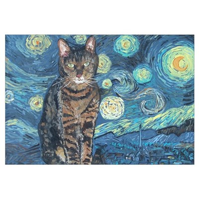 """Starry Night Life"" Canvas Art"