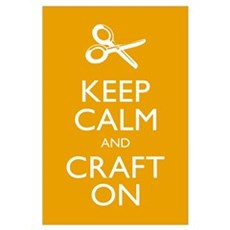 Keep Calm and Craft On Framed Print