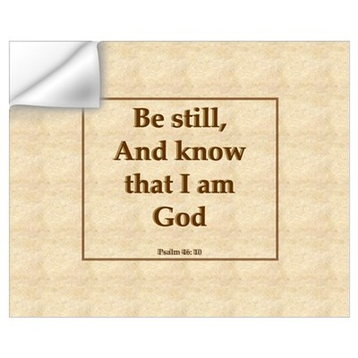"""Be Still"" Psalm Wall Decal"