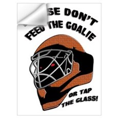 Don't Feed the Goalie Wall Decal