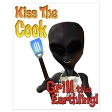 Kiss the Cook Grill the Earth Framed Print