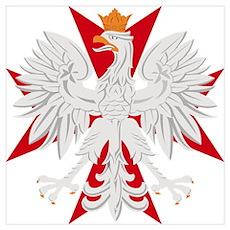 Polish Eagle Red Maltese Cros Poster