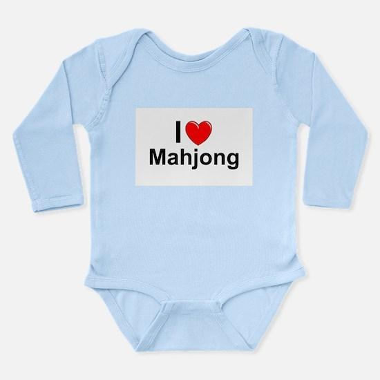 Mahjong Long Sleeve Infant Bodysuit