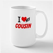 I Heart My Cousin Large Mug