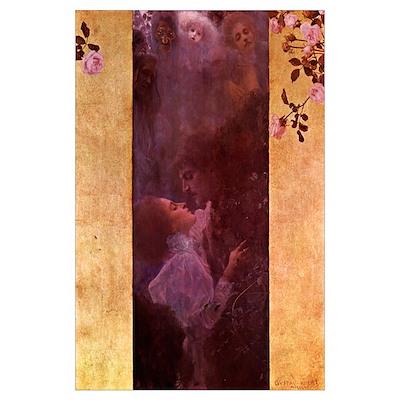 Gustav Klimt 11x17 Print - The Love Poster