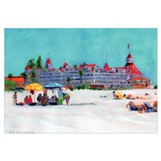 Seaside Coronado Ca by Riccoboni n Framed Print