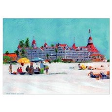 Seaside Coronado Ca by Riccoboni n Poster
