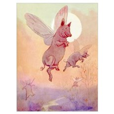 WHEN PIGS FLY IN WONDERLAND Poster