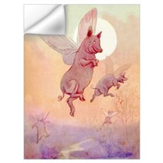 WHEN PIGS FLY IN WONDERLAND Wall Decal